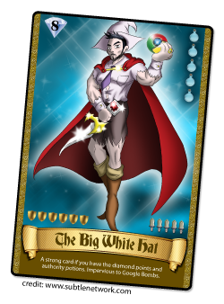 The Big White Hat Card