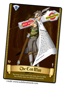 The Con Man Card