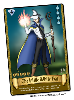 The Little White Hat Card