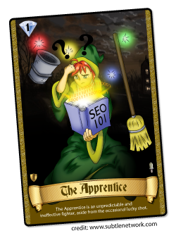 SEO the Game by Subtle Network Design - The Apprentice Card